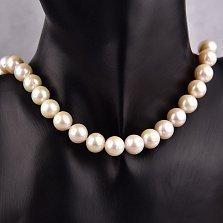 Жемчужное ожерелье Сольвейг с серебряной застежкой