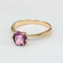 Золотое кольцо с аметистом Патрисия