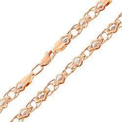Золотая цепочка Наследие в комбинированном цвете фантазийного плетения