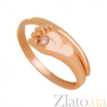 Золотое кольцо с фианитом Новая жизнь VLN--212-1788