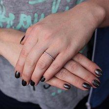 Кольцо в белом золоте Сия с бриллиантами