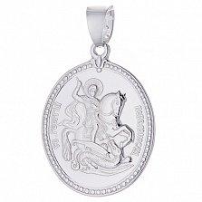 Серебряная ладанка Георгий Победоносец