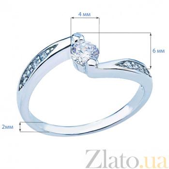 Кольцо серебряное с белым цирконом Дорога к сердцу AQA--JR-2582