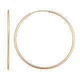 Золотые серьги-кольца Инфанта, диам 45 мм