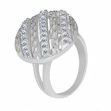 Серебряное кольцо с цирконием Антонина