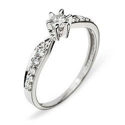 Кольцо в белом золоте Virgo с бриллиантами