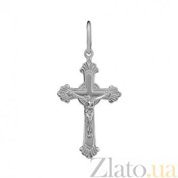 Крестик Небеса в белом золоте 000023971