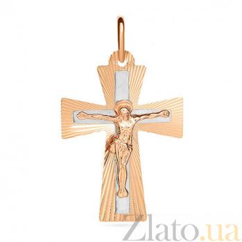 Золотой крестик Лучезарный SUF--521043н