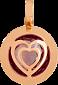 Золотой подвес с александритом Любовь 000024367