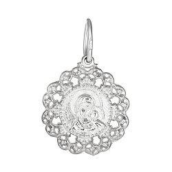 Серебряная ладанка Духовная жизнь с Казанской иконой Божией Матери 000028496