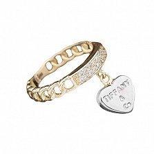 Золотое кольцо Сияние Тиффани с цирконием