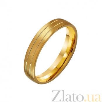Золотое обручальное кольцо Страна любви TRF--431226