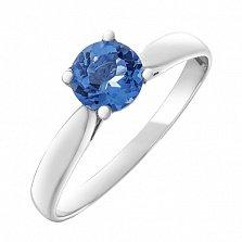 Серебряное кольцо Воздушный поцелуй с кварцем цвета танзанит