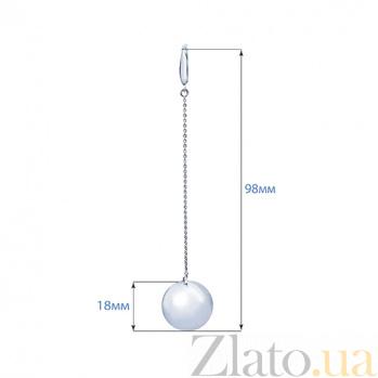 Серебряные серьги Фелиция AQA--Тс-470130