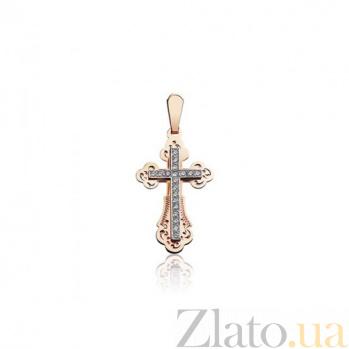 Декоративный золотой крестик Мираж EDM--КР0125
