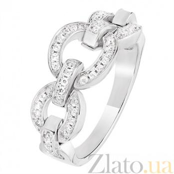 Серебряное кольцо с фианитами Цепь 30356