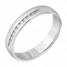 Золотое обручальное кольцо Вдохновение в белом цвете с бриллиантами