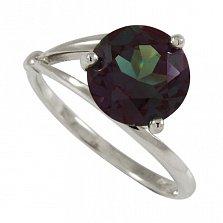 Серебряное кольцо Бриджит с синтезированным александритом
