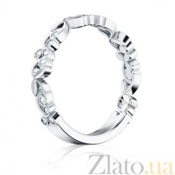 Кольцо из белого золота с бриллиантами Долина грез: Дыхание тишины 1293