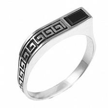 Серебряное кольцо с ониксом Греция