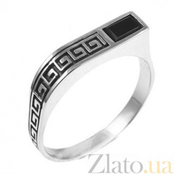 Серебряное кольцо с ониксом Греция BGS--181-1