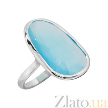 Серебряное кольцо с халцедоном Небесный свет 000032359
