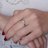 Золотое помолвочное кольцо Одетта с бриллиантами