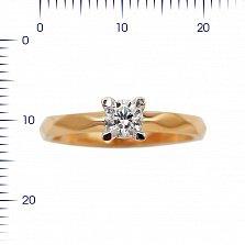 Золотое помолвочное кольцо Искра любви с цирконием