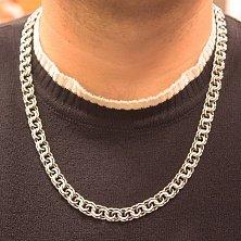 Серебряная цепь Мэрион с чернением, 9мм
