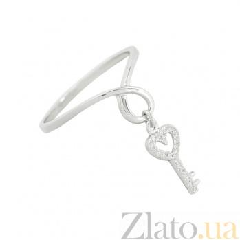 Золотое кольцо с бриллиантами Ключ 1К551-0527