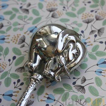 Серебряная погремушка Слоник 1512/к