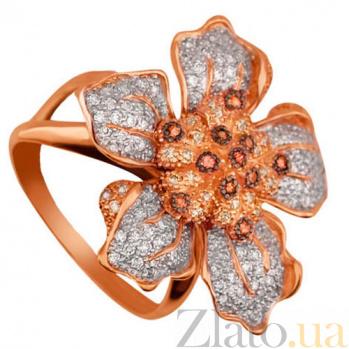 Кольцо из красного золота с цирконием Элина VLT--ТТ1105-2