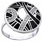 Серебряное кольцо Клер AUR--71756б-ч