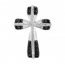 Крестик из белого золота с бриллиантами Финелла