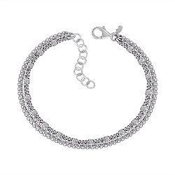 Многослойный серебряный браслет 000146383