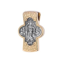 Серебряный крест с позолотой и чернением Святые Апостолы 000034503