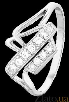 Серебряное кольцо с фианитами Мартина 000025814