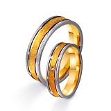 Золотое обручальное кольцо Душевный порыв