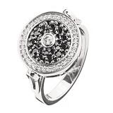 Кольцо с черными бриллиантами Тайная встреча