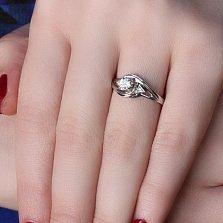 Серебряное кольцо Розалинда с цирконием