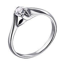 Серебряное кольцо с цирконием 000014535