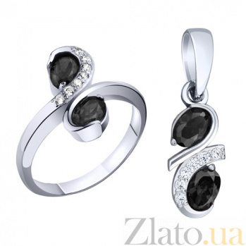 Серебряное кольцо с фианитами Магда AUR--71592ч