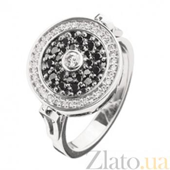 Кольцо с черными бриллиантами Тайная встреча KBL--К1596/бел/брил