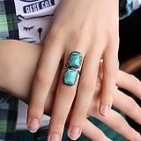 Серебряное кольцо с бирюзой Морская бездна