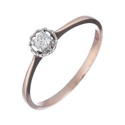 Золотое кольцо с бриллиантом Джульетта