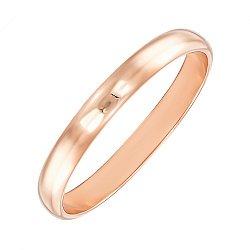 Золотое обручальное кольцо в красном цвете 000119374