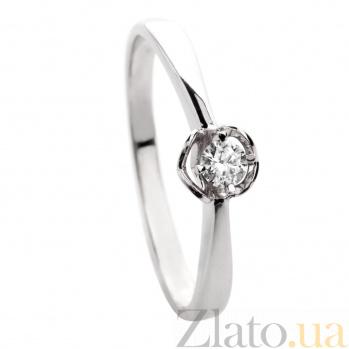 Золотое кольцо Вечная муза с бриллиантом 000045984