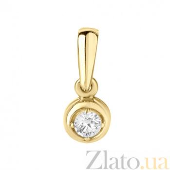 Золотой подвес с бриллиантом Ванесса P 0289/жел/брил