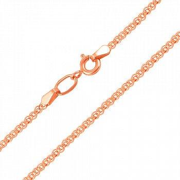 Ланцюжок із червоного золота в плетінні нонна 000104327, 2мм