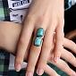 Серебряное кольцо с бирюзой Морская бездна 000007016
